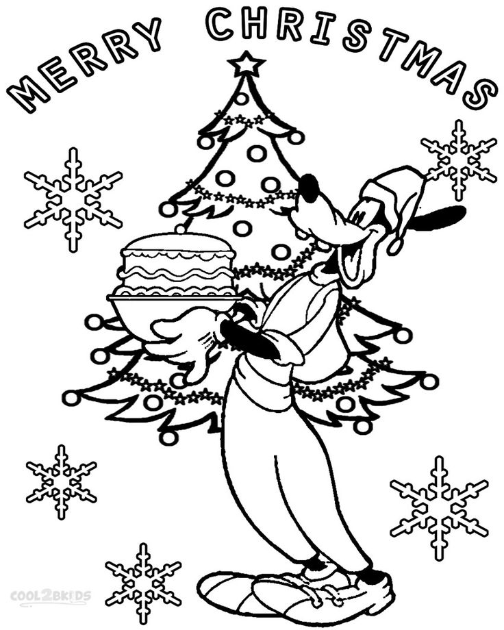 Printable Goofy Coloring Pages For Kids Cool2bkids Coloring Pages Christmas Coloring Pages Coloring Pages For Kids