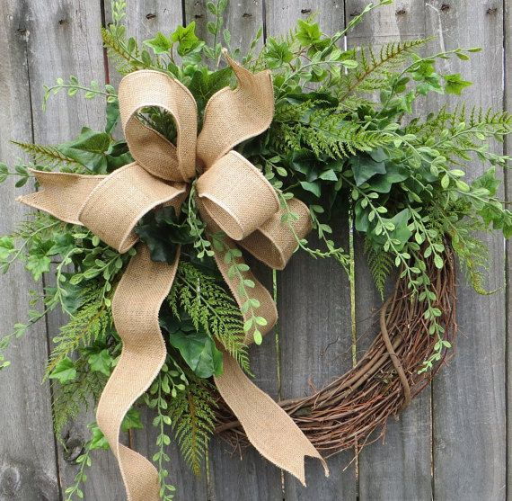 Greenery Wreath Wreath Great for All Year Round by HornsHandmade