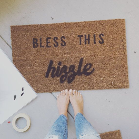 Bless this Hizzle Welcome Mat Snoop Dog quotes by JPartyDesigns