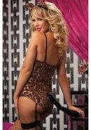 Kitty Bedroom Costume Set - Brown - Os Total Erotica Shop