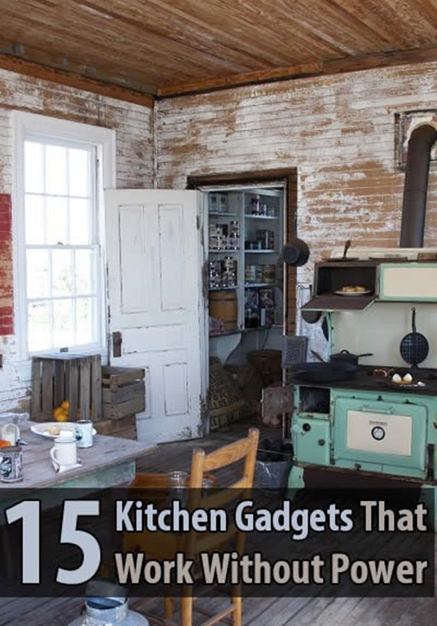 15 Kitchen Gadgets That Work Without Power - Fortunately, there are many non-electric alternatives. I suggest you start replacing your kitchen appliances with non-power versions and learn to use them. This way, if the power goes out it won't be as big of an inconvenience. Here are 15 kitchen gadgets that don't need power.