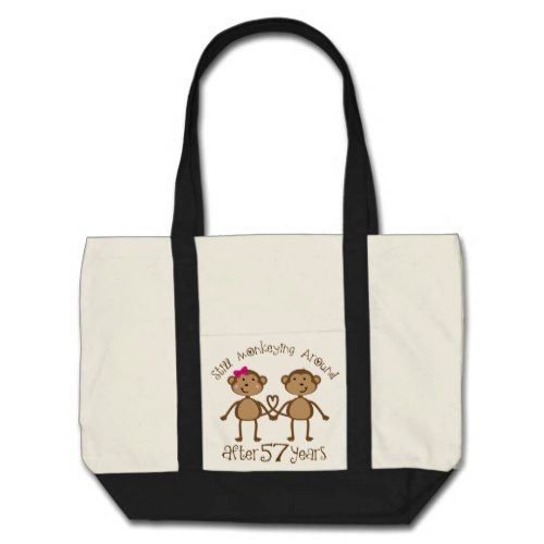 Funny 57th Wedding Anniversary Gifts Tote Bag