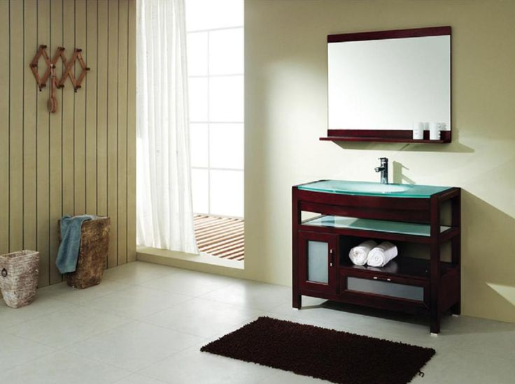 Contemporary bathroom vanities made to look like furniture of an antique chest check out our 20 contemporary bathroom vanities & cabinets