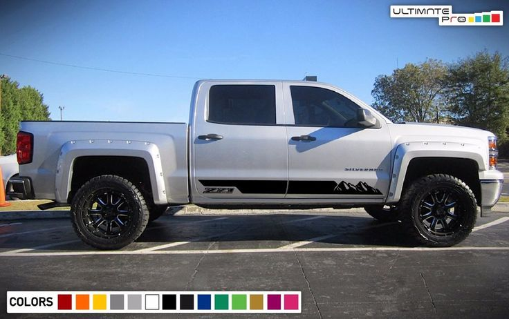 Decal Sticker Side Stripes Kit For Chevrolet Silverado Z71 Mountains 14-17 Cover #ultimateprocy1ulti10deca15