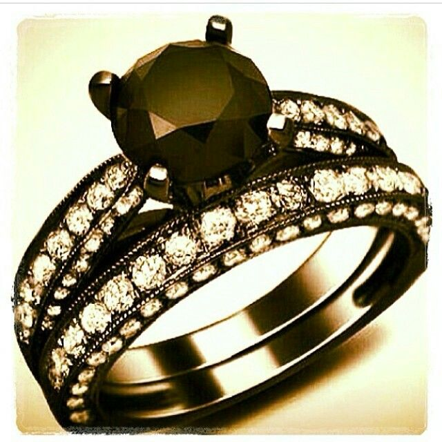 List of pretty affordable black diamond engagement rings
