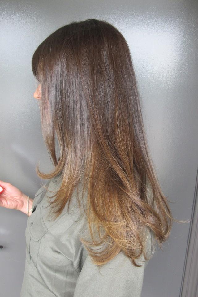 Sublte brunette higlights. Color by Amanda George.