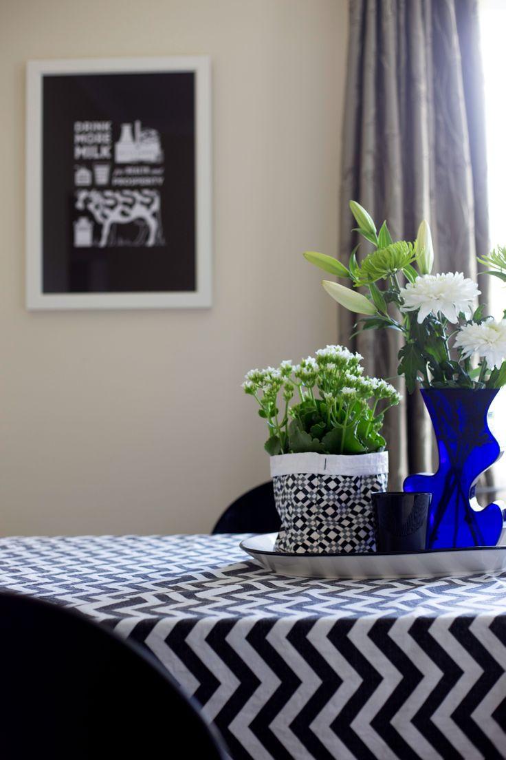 #milk #artprint @endemicworld #Blackandwhite #chevron @BoConcept NZ bluevase. Styling by placesandgraces