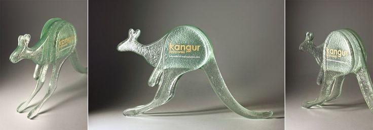 Bespoke fused glass awards #fusing #glass awards #kangaroo