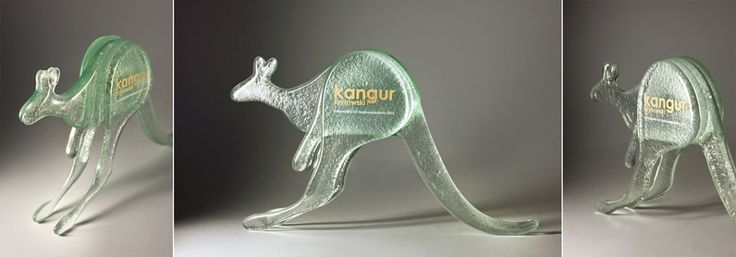 Bespoke fused glass awards #fusing #glass awards #kangaroo