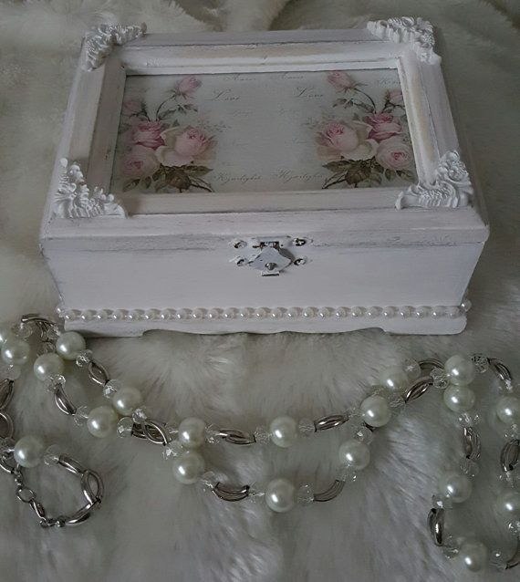 Check out this item in my Etsy shop https://www.etsy.com/uk/listing/263435055/wooden-trinket-box-shabby-chic-decor
