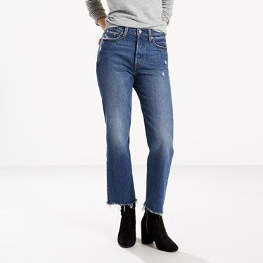 The cheekiest jeans in your closet. Inspired by vintage Levi's® jeans. Hugs your waist and hips, showcasing your best assets. This season, we're introducing this bestseller with a classic straight leg.