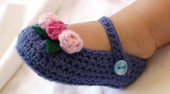 Aliexpress.com: Comprar Crochet baby girl shoes botines infantiles ...