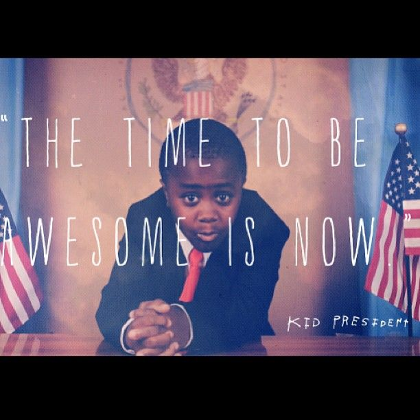 I love Soul Pancake and I love Kid President.  FYI This is the video Carmen showed us at the end of choir.