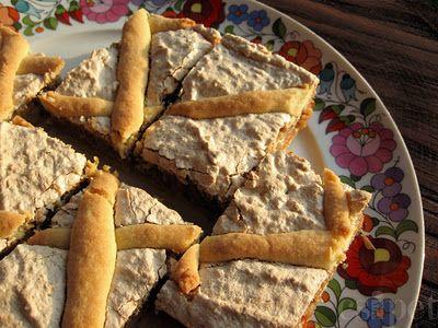 Diós-rácsos sütemény