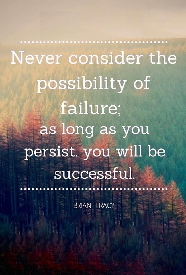 As long as you persist you will be successful.  - Brian Tracy   http://www.briantracy.com?cmpid=2269