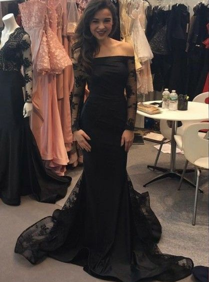 5f7fb9296e61 sexy prom dresses, long sleeves prom dresses, off shoulder prom dresses,  black prom dresses, lace applique prom dresses, long evening dresses, ...
