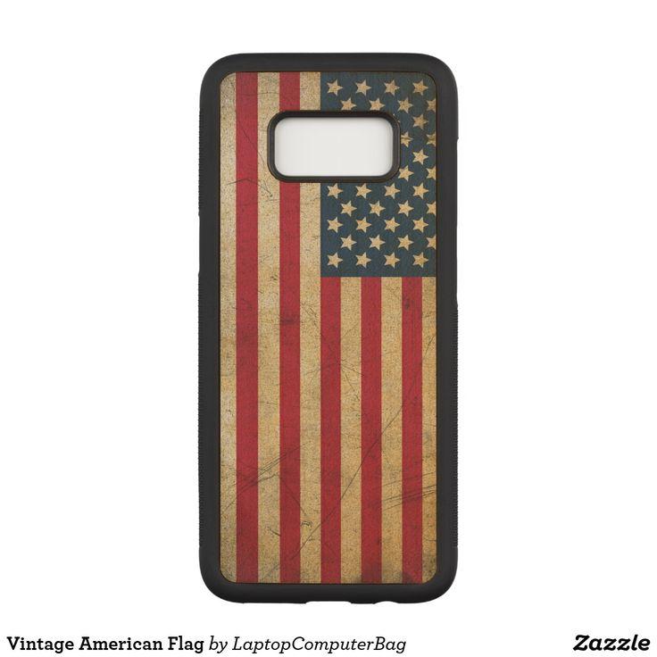 Vintage American Flag Carved Samsung Galaxy S8 Case