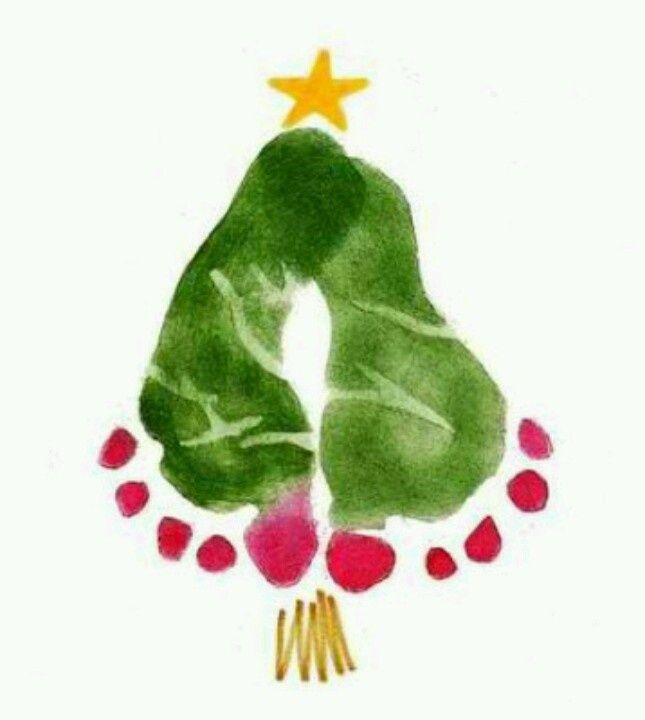 Always looking for hand and footprint art, love this Christmas Tree one! Such a keepsake of kids' growth!