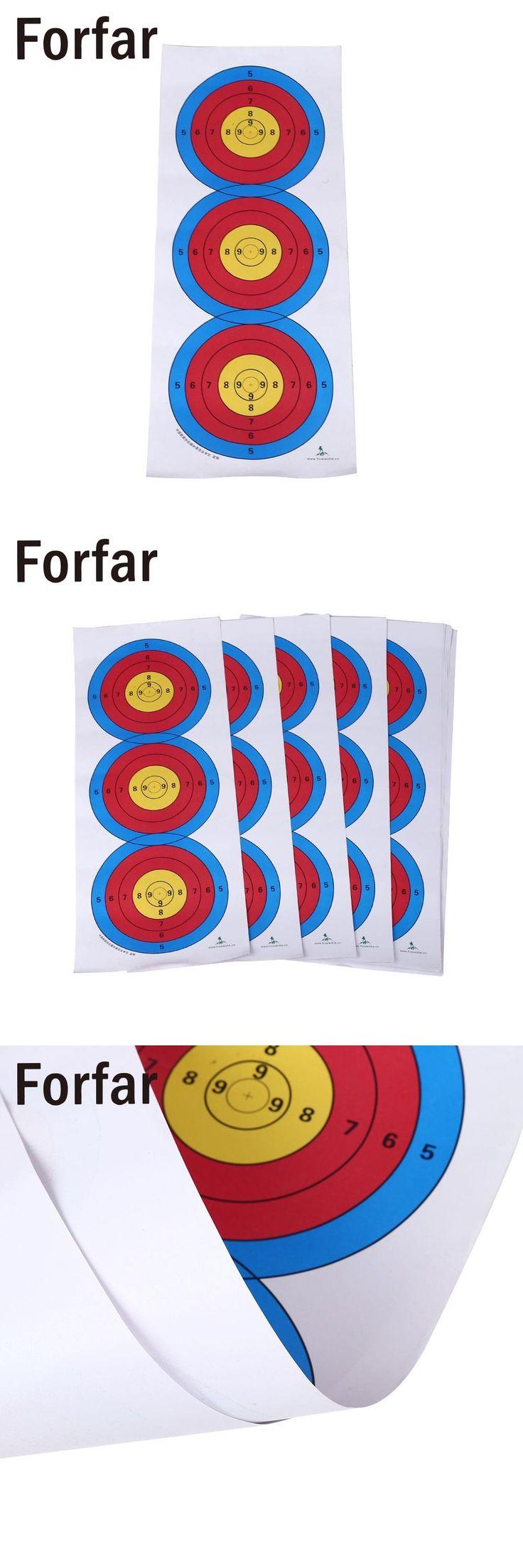 Forfar Standard Three Target Paper Shooting Target Hunting Arrow Target Indoor