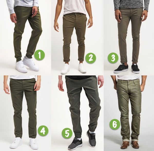 mode homme vert olive tendance pantalon