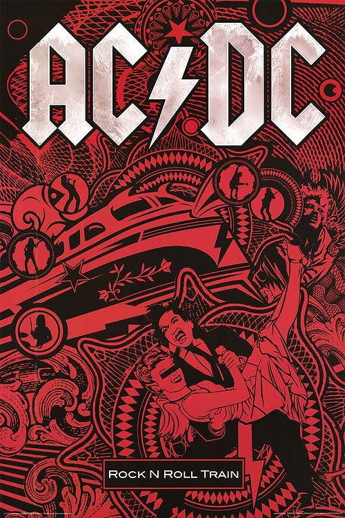 AC/DC Rock N Roll Train Poster