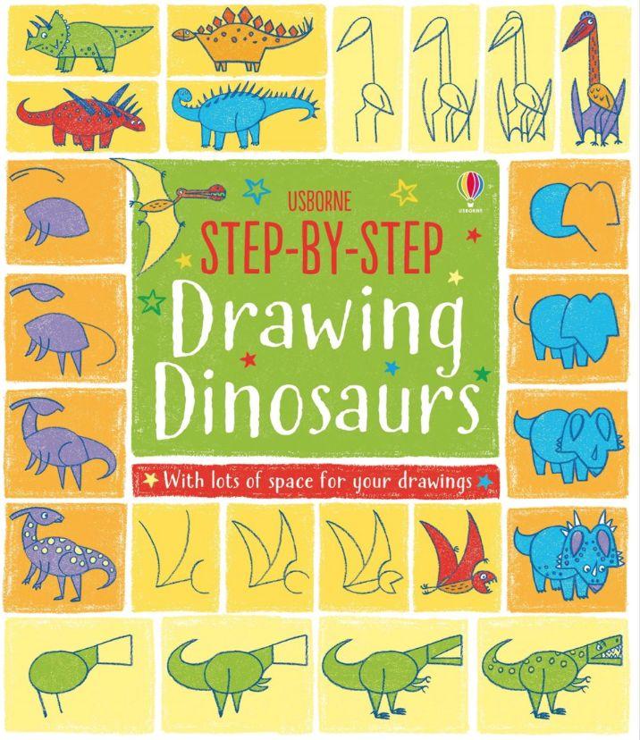 ¿Cómo dibujar dinosaurios? Step-by-step Drawing Dinosaurs -