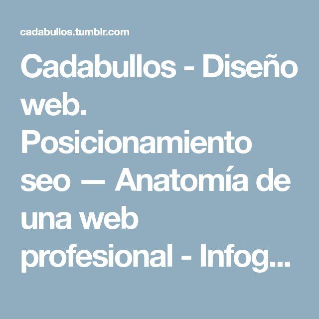 Cadabullos - Diseño web. Posicionamiento seo — Anatomía de una web profesional - Infografía....