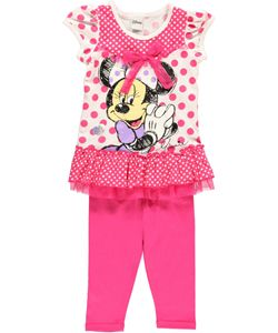 """Minnie Mouse """"Mousy Smile"""" 2-Piece Outfit (Sizes 2T – 4T) $7.99"""