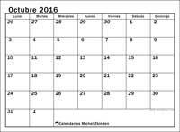 Calendario octubre 2016, Julius