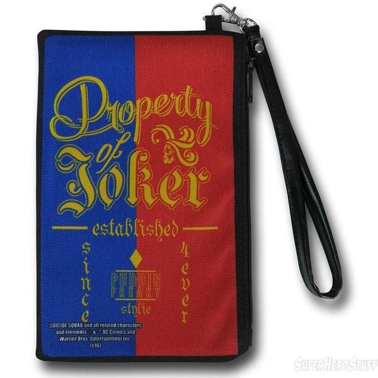 Harley Quinn Property of Joker Women's Wristlet Wallet