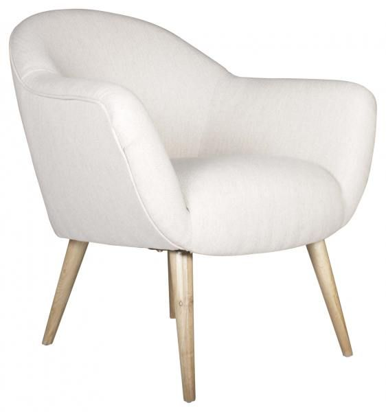 Block & Chisel white deco chair