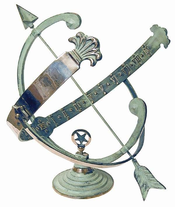 Armillary+Sundial+with+Brass+Frame