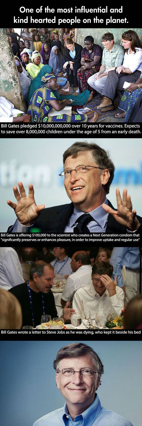 Ladies And Gentlemen, I Present To You, Good Guy Bill Gates *applause