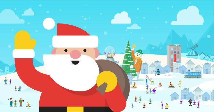 Use Google Santa Tracker to follow Santa Claus on Google Maps as he makes his journey around the world.  Fun coding for kids!