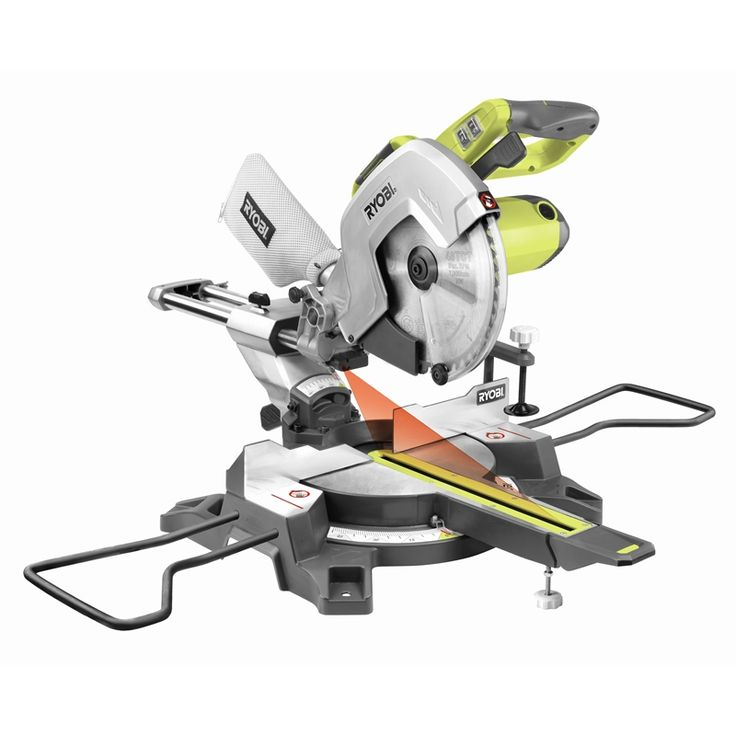 Ryobi 2000W 254mm Slide Compound Mitre Saw with Laser I/N 6210395 | Bunnings Warehouse