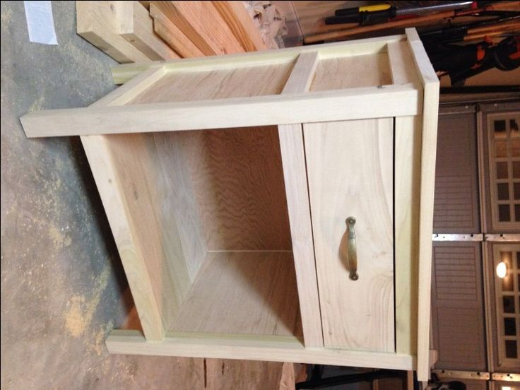 Cooper night stand with drawer, unfinished. from the Rogue Engineer
