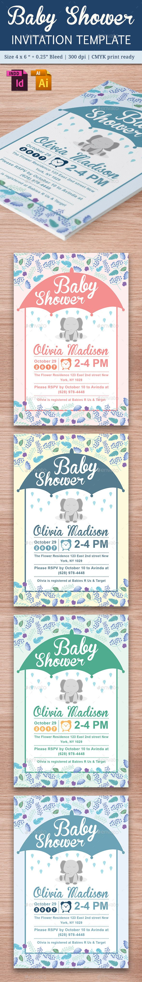 243 best card invite design template images on pinterest baby shower template vol 18 stopboris Gallery