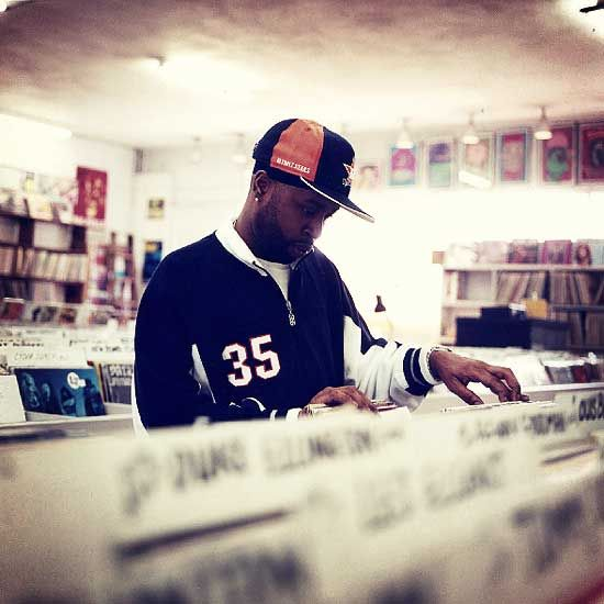 The late great J Dilla... Digging in the crates