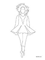 17 best images about irish dancing on pinterest irish for Irish dance coloring pages
