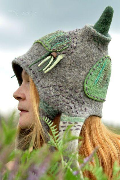 amazing felted hood/hat by Felt-Nest (Yana Volkova)