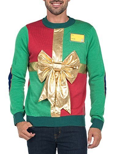 67008b2ac36a New Tipsy Elves Men s Ugly Christmas Sweater - Funny Green Sweater ...