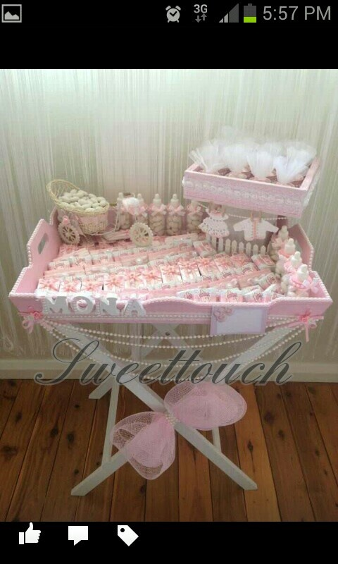 Girls Chocolate Arrangment For Welcome Baby.