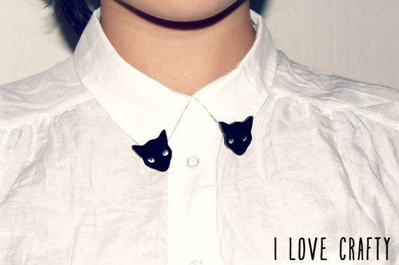 Cat Jewelry // Kitty Collar Tips by FelineFataleShop on Etsy, £12.00