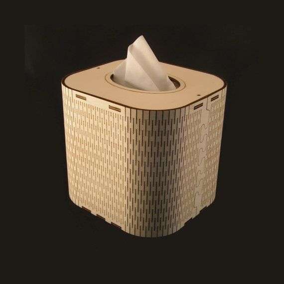 Tissue Box laser cut from natural by RedKiteDesignsRadnor on Etsy