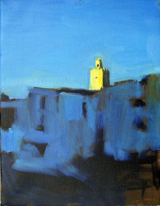 H R Bell, Mosque, oil on canvas
