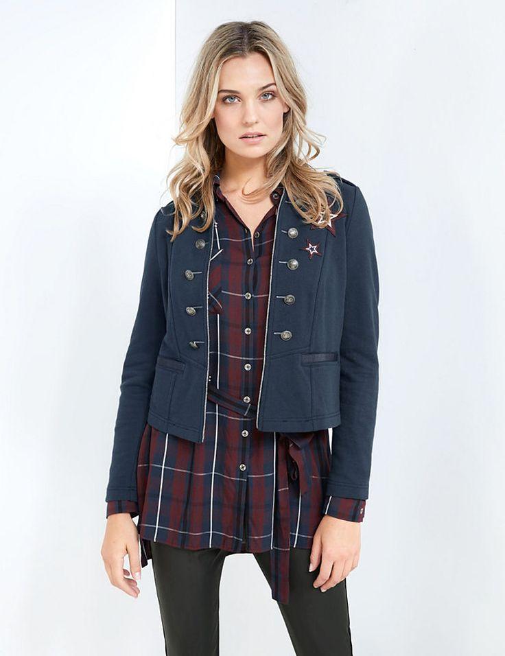 Taifun Blazer Langarm gefüttert »Jersey-Blazer im Uniform-Look« Jetzt bestellen unter: https://mode.ladendirekt.de/damen/bekleidung/blazer/sonstige-blazer/?uid=31de942a-d5f7-5a0a-8c32-907a2a463cf5&utm_source=pinterest&utm_medium=pin&utm_campaign=boards #sonstigeblazer #blazer #bekleidung