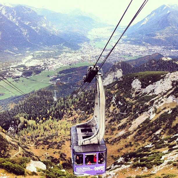 Ride up the Zugspitze - Garmisch Patenkirchen, Bavaria.  Repinned by www.mygrowingtraditions.com