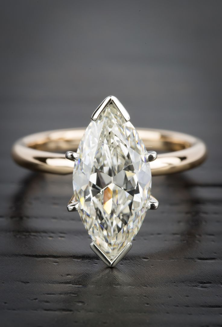 Marquise diamond setting ideas - This Gorgeous Comfort Fit Marquise Solitaire Diamond Engagement Ring In Rose Gold Features A 2 98