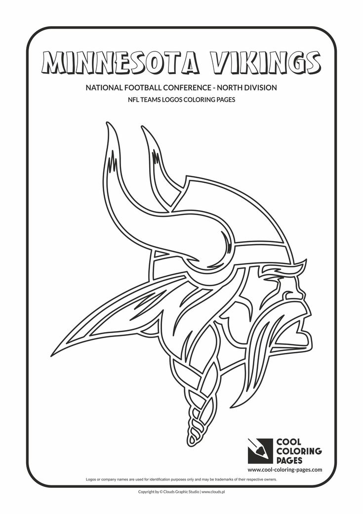 Minnesota Vikings Helmet Pages Printable Coloring Pages
