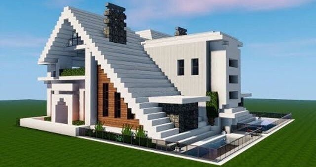 691 Likes 16 Comments Minecraft Houses Cool Builds Minecraft On Instagram Cool Modern Ho Modern Minecraft Houses Easy Minecraft Houses Minecraft Modern